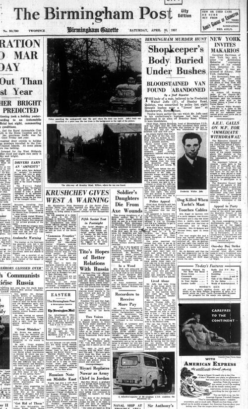Birmingham Post_Sat 20th April 1957