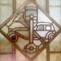 Stained glass detail, Coventry Tech.